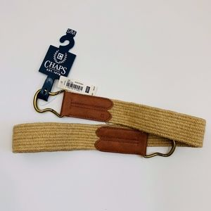 NWT Chaps Belt in Tan S/M Natural
